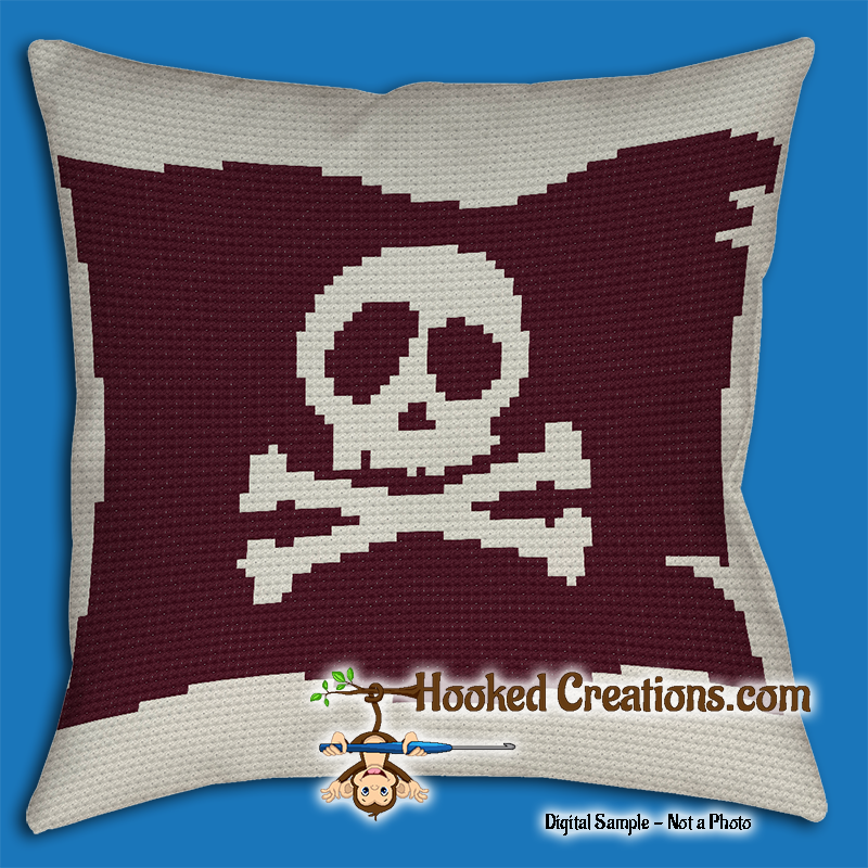 A Pirates Life Throw Blanket & Pillow Set Crochet Pattern - PDF Download
