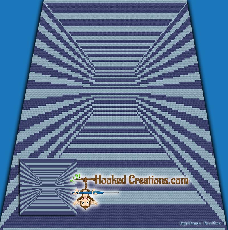 Mini C2c Pattern: Endless Hallway Mini C2C Throw Blanket Crochet Pattern