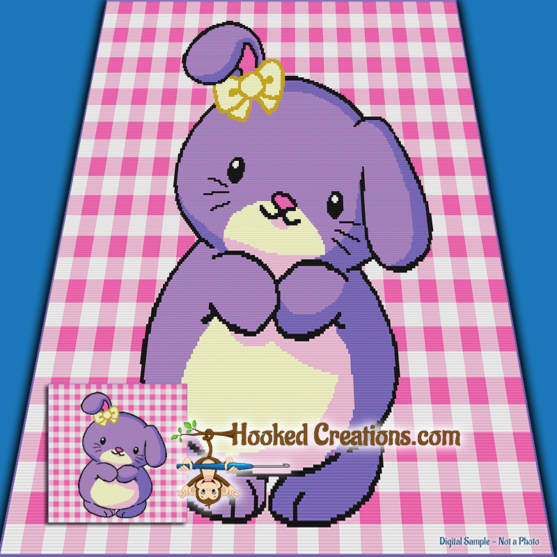 Fluffy Bunny Sc Throw Blanket Crochet Pattern Pdf Download