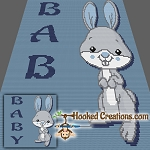Baby Bunny TSS (Tunisian Simple Stitch)-Right Handed Baby Blanket Crochet Pattern