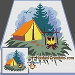 Camp Site SC Throw Blanket Crochet Pattern