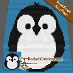 Chubby Little Penguin Mini C2C Baby Blanket Crochet Pattern