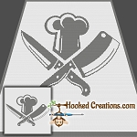 Cleaver Chef SC Throw Blanket Crochet Pattern