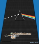 Dark Side of the Moon Mini C2C Throw Blanket Crochet Pattern