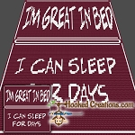 I'm Great In Bed Mini C2C (Modified Corner to Corner) Throw Blanket Crochet Pattern