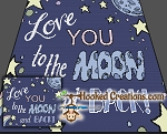 Love you to the Moon and Back SC Throw Blanket Crochet Pattern