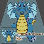 My Dragon Pal SC Throw Blanket Crochet Pattern