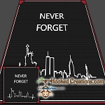 Never Forget 9-11 SC Throw Blanket Crochet Pattern