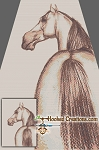 Pencil Drawn Horse SC Twin Blanket Crochet Pattern