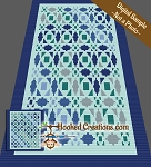 Quilted Hearts C2C (Corner to Corner) King Blanket Crochet Pattern