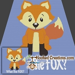 What The Fox? SC Throw Blanket Crochet Pattern