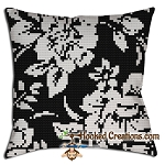 A Pansy of Sorts SC (Single Crochet) Throw Pillow  Crochet Pattern