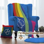 Gay Pride Male SC (Single Crochet) Throw Pillow & C2C (Corner to Corner) Twin Blanket Set Crochet Pattern