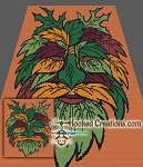 Green Man SC (Single Crochet) Throw Blanket Crochet Pattern
