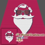 Hipster Santa SC (Single Crochet) Throw Blanket Crochet Pattern