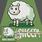 Holy Sheep SC Throw Blanket Crochet Pattern