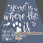 Home is Where SC Throw Blanket Crochet Pattern