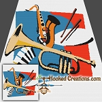 Jazz Band SC Throw Blanket Crochet Pattern