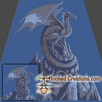 Mountain Top Dragon SC (Single Crochet) Throw Blanket Crochet Pattern