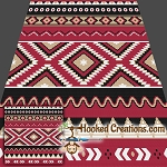Native American Inspired SC (Single Crochet) Throw Blanket Crochet Pattern