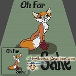 Oh For Fox Sake SC (Single Crochet) Throw Blanket Crochet Pattern