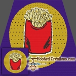 Pop Art Fries SC (Single Crochet) Throw Sized Blanket Crochet Pattern