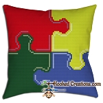 Puzzle Throw Pillow Crochet Pattern