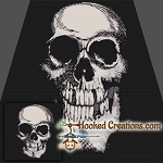 Skull SC Throw Blanket Crochet Pattern