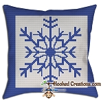 Snowflake SC (Single Crochet) Throw Pillow Crochet Pattern