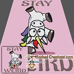 Stay Weird TSS (Tunisian Simple Stitch) - Right Handed Throw Blanket Crochet Pattern