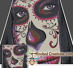 Sugar Skull Girl SC (Single Crochet) King Blanket Crochet Pattern