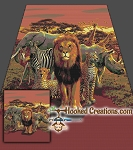Welcome to the Jungle SC Full Size Blanket Crochet Pattern