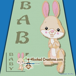 Baby Bunny SC (Single Crochet) Baby Blanket Crochet Pattern