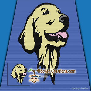 Golden Retriever SC (Single Crochet) Throw Blanket Crochet Pattern