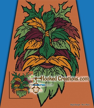 Green Man SC Throw Blanket Crochet Pattern