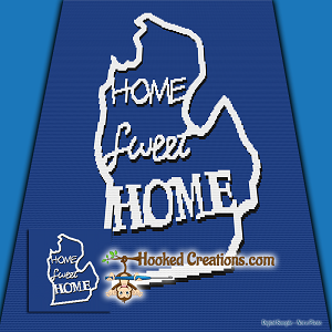 Home Sweet Home Michigan SC (Single Crochet) Throw Blanket Crochet Pattern