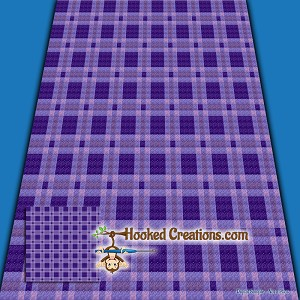 Plaid Baby Blanket - Purple - C2C Crochet Pattern - PDF ...