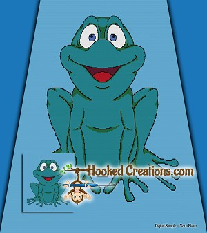 Ribbit SC Full Size Blanket Crochet Pattern