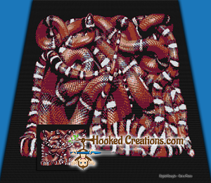 Snakes On A Blanket SC Throw Blanket Crochet Pattern