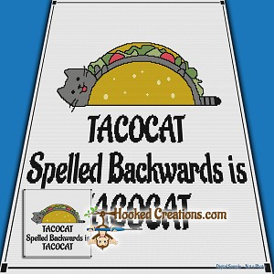 TACOCAT SC Throw Blanket Crochet Pattern