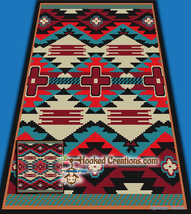 Mini C2c Pattern: American Dakota Mini C2C Full Size Blanket Crochet Pattern