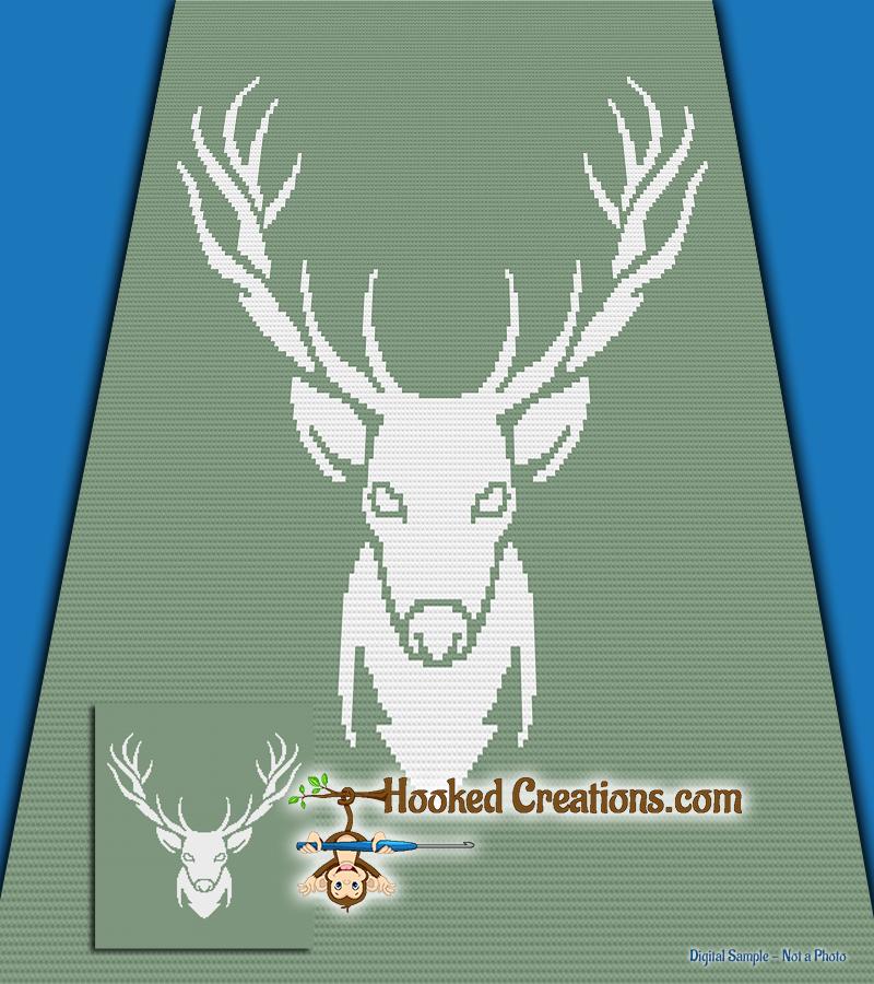 Mini C2c Pattern: Buck Spirit Mini C2C Full Size Blanket Crochet Pattern