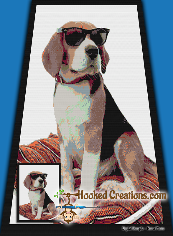 Cool Beagle SC (Single Crochet) Twin Blanket Graphghan Crochet Pattern - PDF Download