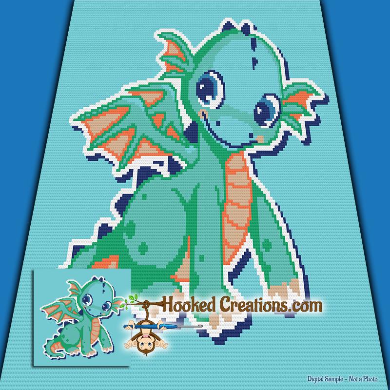 Cutey Dragon Sc Baby Blanket Crochet Pattern Pdf Download