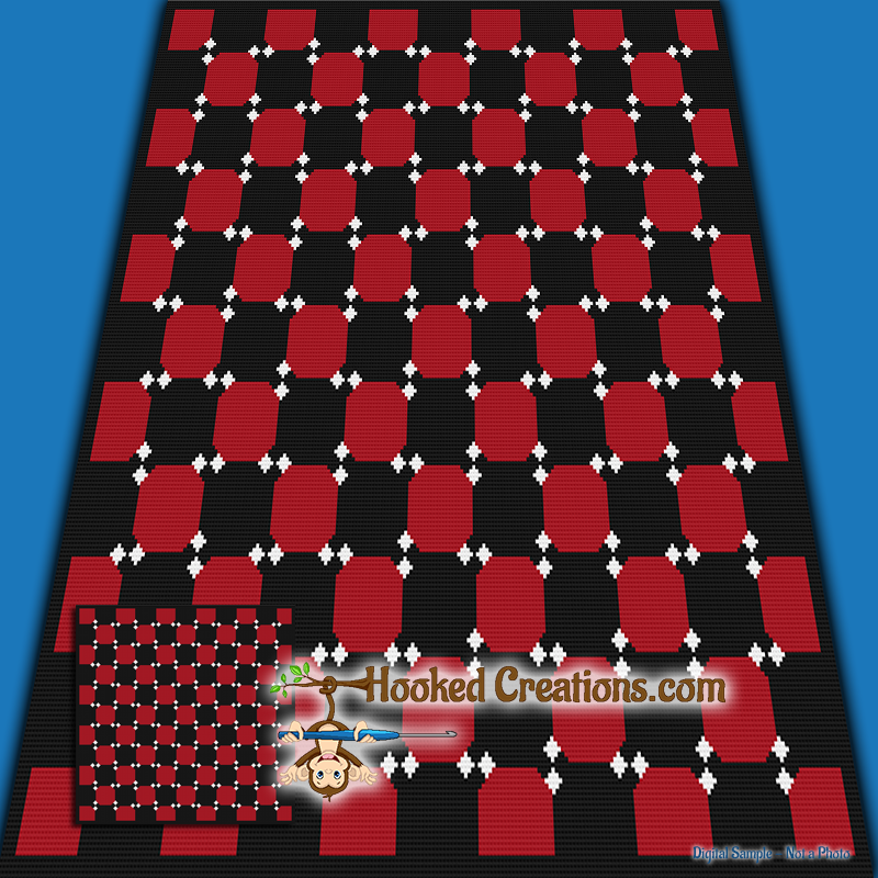 Dancing Checkerboard Sc Throw Blanket Crochet Pattern Pdf Download