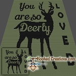 Deerly Loved SC (Single Crochet) Baby Blanket Graphghan Crochet Pattern - PDF Download