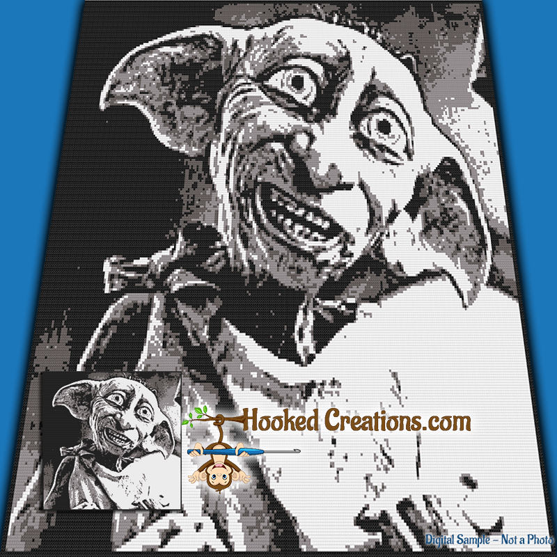 Dobby SC (Single Crochet) Throw Blanket Graphghan Crochet Pattern - PDF Download