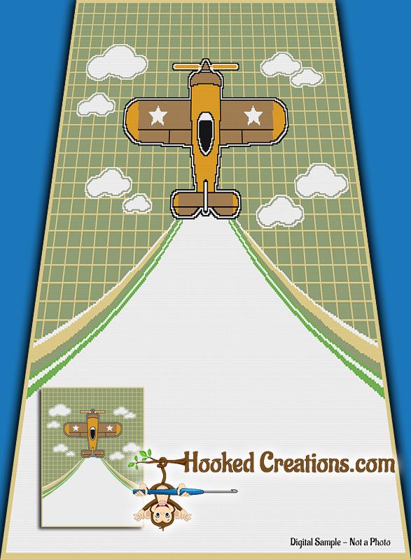 Flight Across My Blanket Sc Twin Blanket Crochet Pattern Pdf Download