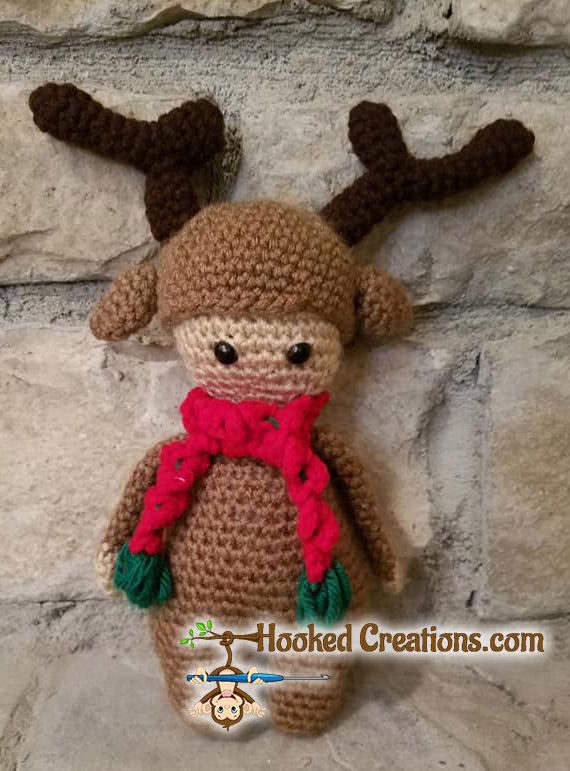 Lil Reindeer Lil D Dolls In Costumes Amigurumi Crochet Pattern