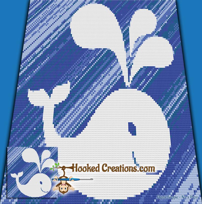 Mini C2c Pattern: Look A Whale Mini C2C Throw Sized Blanket Crochet Pattern